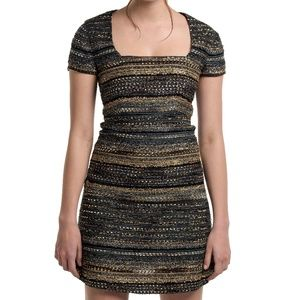 NWT Luba 'Ashley' metallic striped dress